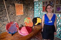 Ceramic Artist Manoa Ricou, Biannual Arts Festival, Goree Island, Senegal.