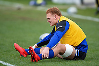 Miles Reid of Bath Rugby looks on during the pre-match warm-up. Gallagher Premiership match, between Bath Rugby and Harlequins on March 2, 2019 at the Recreation Ground in Bath, England. Photo by: Patrick Khachfe / Onside Images
