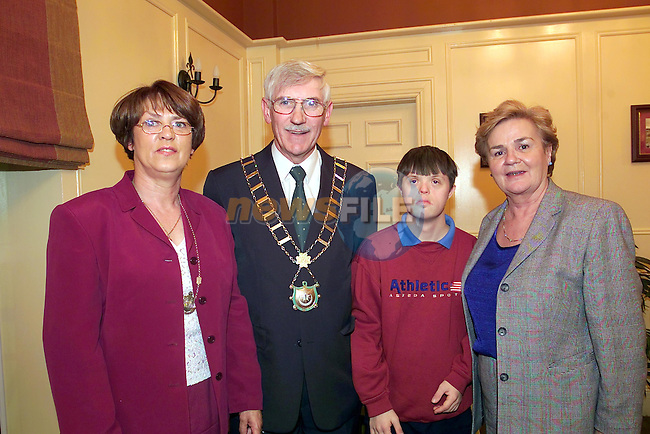 lady Mayoress Chris Mulroy, mayor Jimmy Mulroy, Charlie and patricia Copas at the Mayor Show in the West court Hotel..Picture Fran Caffrey Newsfile...This Picture is sent to you by:..Newsfile Ltd.The View, Millmount Abbey, Drogheda, Co Louth, Ireland..Tel: +353419871240.Fax: +353419871260.GSM: +353862500958.ISDN: +353419871010.email: pictures@newsfile.ie.www.newsfile.ie
