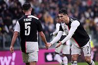 Miralem Pjanic of Juventus , Cristiano Ronaldo of Juventus <br /> Torino 1-12-2019 Juventus Stadium <br /> Football Serie A 2019/2020 <br /> Juventus FC - US Sassuolo 2-2 <br /> Photo Federico Tardito / Insidefoto