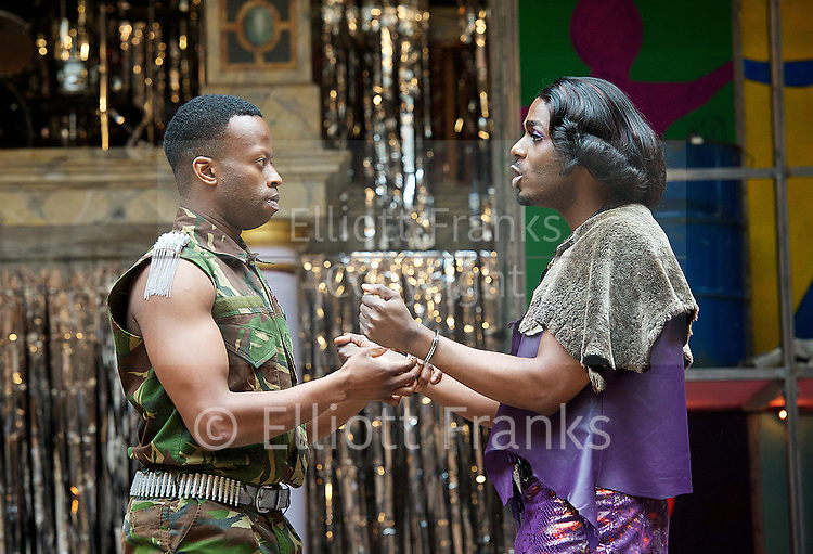 The Lightening Child<br /> by Che Walker &amp; Arthue Darvill<br /> a musical remix of Euripides' the Baccae<br /> at Shakespeare's Globe Theatre, London, Great Britain <br /> press photocall<br /> 18th September 2013 <br /> <br /> directed by Matthew Dunster<br /> <br /> Choreographer Charlotte Broom <br /> <br /> Moyo Akande<br /> Sheila Atim<br /> Geoff Aymer<br /> Bette Bourne<br /> Jonathan Chambers<br /> Tommy Coleman <br /> Philip Cumbus<br /> Harry Hepple<br /> Jess Murphy <br /> Coral Messam <br /> Colin Ryan <br /> Clifford Samuel <br /> Cat Simmons<br /> Clemmie Sveaas<br /> Finty Williams<br /> <br /> <br /> Photograph by Elliott Franks