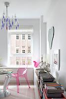 modern plexiglass chair