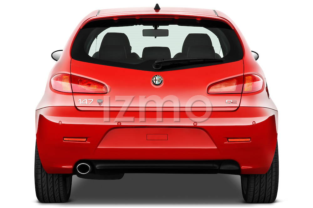 Straight rear view of a 2000 - 2010 Alfa Romeo 147 5 Door Ducati Corse Hatchback.
