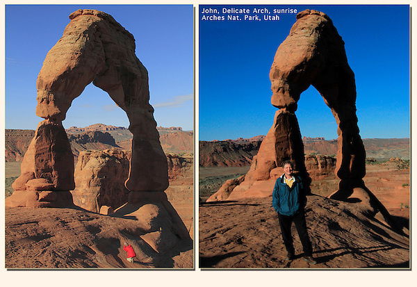 John leading a week-long photo workshop to Delicate Arch in Utah's canyon country.<br /> John brings a unique set of skills and passions to his tours. In addition to extensive photographic accomplishments, he provides insight into the canyon geology and natural history. He has a B.S. in zoology from Colorado State University and a M.S. in entomology from Washington State University.