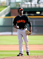 Henry Sosa - San Francisco Giants - 2009 spring training.Photo by:  Bill Mitchell/Four Seam Images