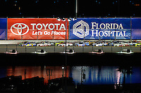 18-19 February, 2016, Daytona Beach, Florida USA<br /> Ryan Truex, Cameron Hayley and Timothy Peters race Johnny Sauter for the lead in the closing laps.<br /> ©2016, F. Peirce Williams
