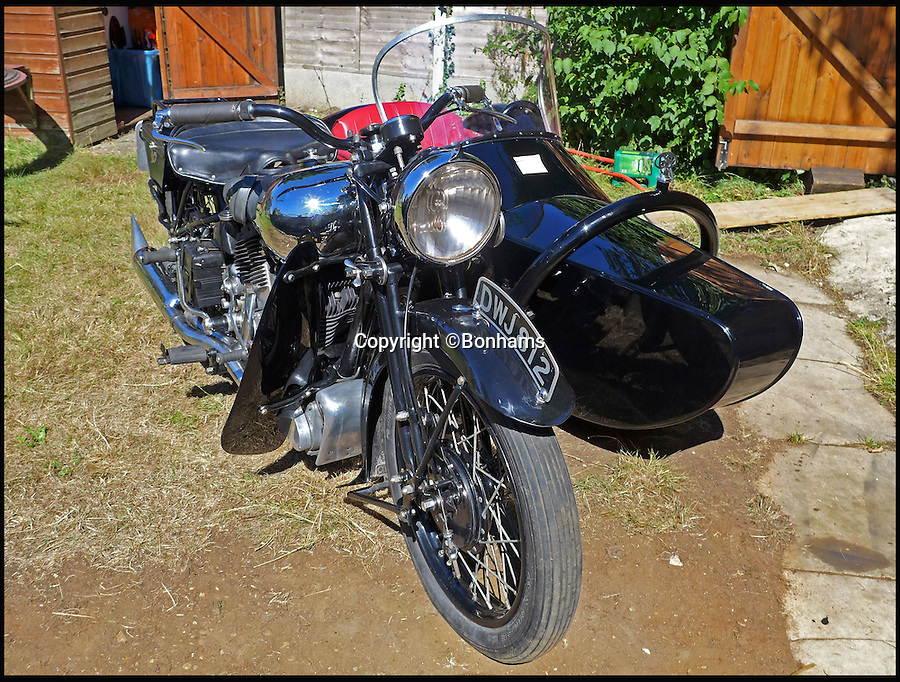 BNPS.co.uk (01202 558833)<br /> Pic: Bonhams/BNPS<br /> <br /> When the Cops could outrun the Robbers...<br /> <br /> An exceptionally rare monster of a motorcycle that was used by police forces between the two wars has emerged at auction. <br /> <br /> Despite looking like something you might find at a Hells Angels rally, the Brough Superior 11-50 was driven by British policemen who would carry their partners in a sidecar. <br /> <br /> This 1937 example was used by Sheffield Police while the same model was also purchased by forces in Australia and Canada. <br /> <br /> With an enormous 1096cc V-twin engine the machine could comfortably pull a heavy sidecar at 70mph, or travel 85mph on its own.
