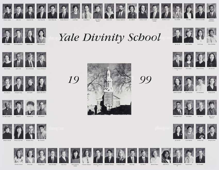 1999 Yale Divinity School Senior Portrait Class Group Photograph