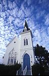 Looking at the Presbytarian Church in Mendocino, California