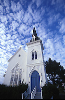 Looking at the Presbytarian Church in Mendocino, California