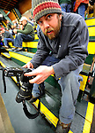 30 December 2007: Photographer Brian Jenkins chimps between periods when the Quinnipiac University Bobcats visited the University of Vermont Catamounts at Gutterson Fieldhouse in Burlington, Vermont. The Bobcats defeated the Catamounts 4-1 to win the Sheraton/TD Banknorth Catamount Cup Tournament...Mandatory Photo Credit: Ed Wolfstein Photo