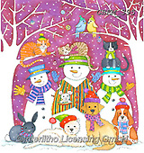 Kate, CHRISTMAS ANIMALS, WEIHNACHTEN TIERE, NAVIDAD ANIMALES, paintings+++++Pets by door,GBKM395,#xa#