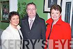 Enjoying the Kiskeam GAA social in the Dromhall Hotel, Killarney on Saturday night were Brid O'Sullivan, Michael Moynihan and Sheila Moynihan.......