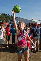 Volley ball at Four Season Square. Photo: Jesper Landby/Scouterna