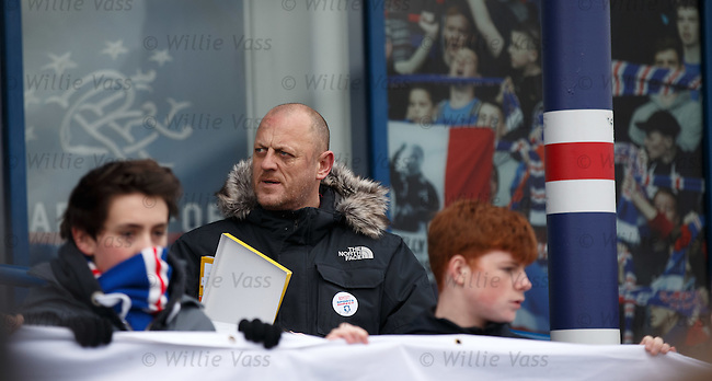 Craig Houston at the Sports Direct semonstration outside the Rangers Megastore