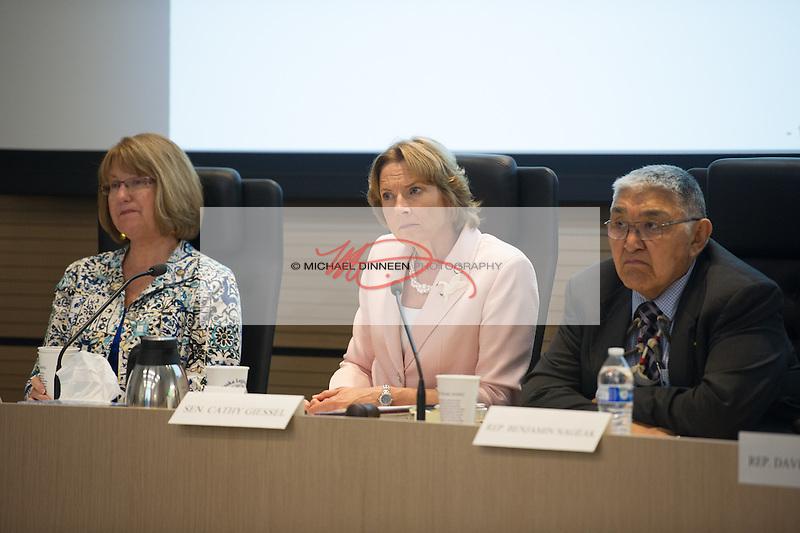 From left, Anna Fairclough, Cathy GIessel, Ben Nageak