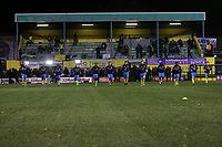 Haringey players warm up during Haringey Borough vs AFC Wimbledon, Emirates FA Cup Football at Coles Park Stadium on 9th November 2018