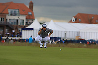 Tyrrell Hatton (ENG) on the 8th during Round 2 of the Aberdeen Standard Investments Scottish Open 2019 at The Renaissance Club, North Berwick, Scotland on Friday 12th July 2019.<br /> Picture:  Thos Caffrey / Golffile<br /> <br /> All photos usage must carry mandatory copyright credit (© Golffile | Thos Caffrey)