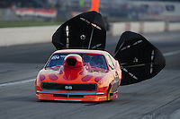 Sept. 3, 2011; Claremont, IN, USA: NHRA pro mod driver Matt Smith during qualifying for the US Nationals at Lucas Oil Raceway. Mandatory Credit: Mark J. Rebilas-