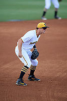 Bradenton Marauders third baseman Hunter Owen (13) during a game against the Tampa Tarpons on August 12, 2018 at LECOM Park in Bradenton, Florida.  The game was suspended in the bottom of the first inning due to weather.  (Mike Janes/Four Seam Images)
