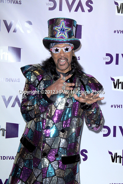 LOS ANGELES - DEC 16:  Bootsy Collins arriving at the VH1 Divas Concert 2012 at Shrine Auditorium on December 16, 2012 in Los Angeles, CA