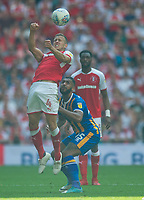 Rotherham Will Vaulks and Shrewsbury Stefan Payne during the Sky Bet League 1 Play Off FINAL match between Rotherham United and Shrewsbury Town at Wembley, London, England on 27 May 2018. Photo by Andrew Aleksiejczuk / PRiME Media Images.
