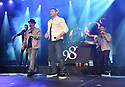 COCONUT CREEK, FL - FEBRUARY 28: (L-R)  Jeff Timmons, Justin Jeffre, Nick Lachey and Drew Lachey of 98 Degrees perform on stage at Seminole Casino Coconut Creek on February 28, 2020 in Coconut Creek, Florida. ( Photo by Johnny Louis / jlnphotography.com )