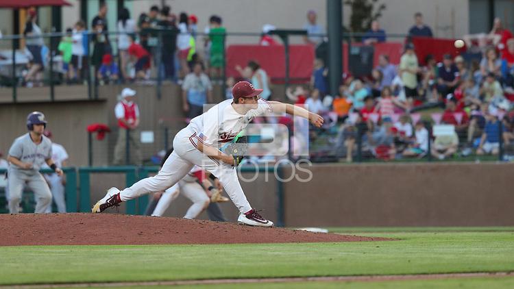 Stanford, CA - May 19, 2017:  Stanford Baseball defeats Washington 8-4 on Fireworks Night at Sunken Diamond.