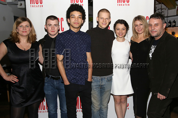 Anna Jordan, Jack DiFalco, Justice Smith, Lucas Hedges, Stefania LaVie Owen, Ari Graynor, Trip Cullman attend the 'Yen' Opening Night After Party at the Sushisamba on January 31, 2017 in New York City.