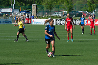 Kansas City, MO - Saturday May 13, 2017: Lo'eau Labonta during a regular season National Women's Soccer League (NWSL) match between FC Kansas City and the Portland Thorns FC at Children's Mercy Victory Field.