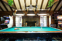 The Game House at the Playboy Mansion, Los Angeles, Calif. January 8, 2016.<br /> CREDIT: Lisa Corson for The Wall Street Journal<br /> Slug: PLAYBOY