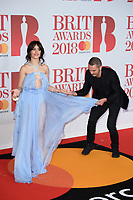 Camila Cabello<br /> arriving for the BRIT Awards 2018 at the O2 Arena, Greenwich, Leicester Square, London<br /> <br /> ©Ash Knotek  D3383  21/02/2018<br /> <br /> *photos for editorial use only in connection with the BRITs*