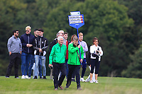 Kevin Stevens carrying the score board for the 2nd Irish match on the 2nd during Round 3 of the WATC 2018 - Eisenhower Trophy at Carton House, Maynooth, Co. Kildare on Friday 7th September 2018.<br /> Picture:  Thos Caffrey / www.golffile.ie<br /> <br /> All photo usage must carry mandatory copyright credit (&copy; Golffile | Thos Caffrey)