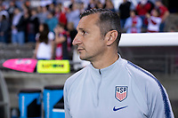 HOUSTON, TX - JANUARY 28: Vlatko Andonovski of the United States watches his team during a game between Haiti and USWNT at BBVA Stadium on January 28, 2020 in Houston, Texas.