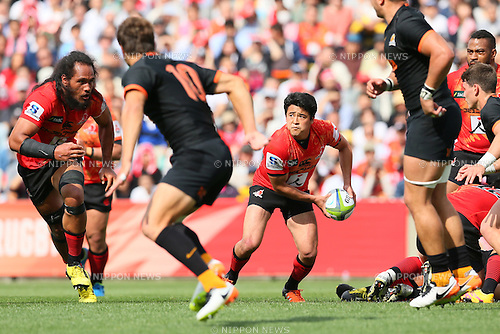Atsushi Hiwasa (Sunwolves), <br /> APRIL 23, 2016 - Rugby : <br /> Super Rugby match between Sunwolves 36-28 Jaguares <br /> at Prince Chichibu Memorial Stadium in Tokyo, Japan. <br /> (Photo by Yohei Osada/AFLO SPORT)
