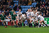 16th March 2018, Ricoh Arena, Coventry, England; Womens Six Nations Rugby, England Women versus Ireland Women; Leanne Riley of England passes the ball