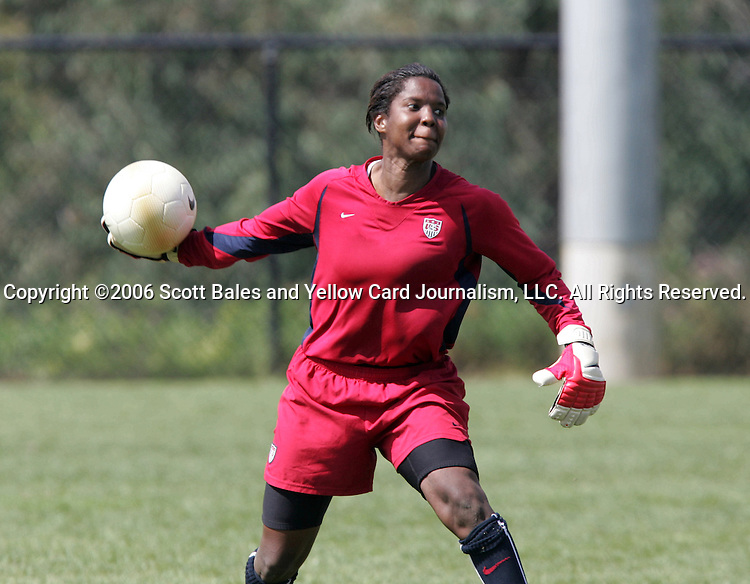 28 September 2006: Briana Scurry. The United States Women's National Team trained at the Home Depot Center in Carson, California.