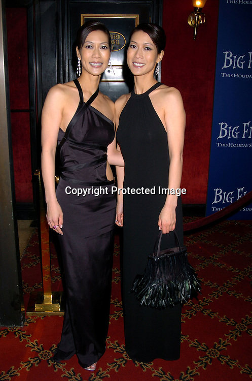 """Ada Tai and Arlene Tai..at the World Premiere of """"Big Fish"""" on December 4, 2003 at the Ziegfeld Theatre in New York City.                               Photo by Robin Platzer, Twin Images"""