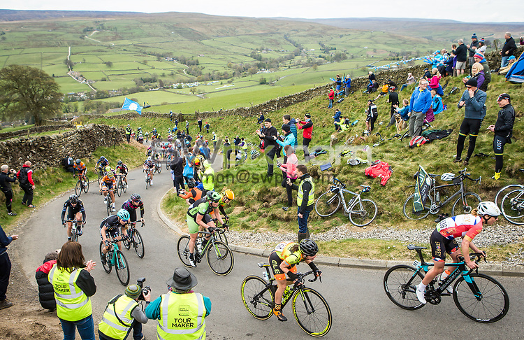Picture by Alex Whitehead/SWpix.com - 29/04/2017 - Cycling - 2017 Tour de Yorkshire - Women's Race, Tadcaster to Harrogate - Lofthouse.