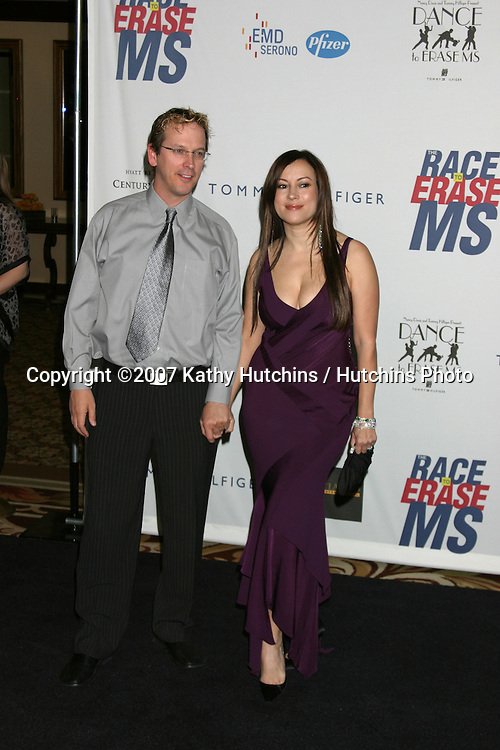 Phil Laak & Jennifer Tilly.Dance to Erase MS.Century Plaza Hotel.Century City, CA.April 14, 2007.©2007 Kathy Hutchins / Hutchins Photo....