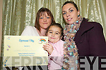 Lone Parents Group:    Receiving her certificate for doing a parenting skills course Siobhan Keating, Listowel with her daughter Siome and Lorraine Bowler of North Kerry Together..