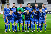 28th September 2017, Partizan Stadium, Belgrade, Serbia; UEFA Europa League group stage, Partizan versus Dynamo Kiev; Team of Dynamo Kiev posing for the photographers before the start of the match