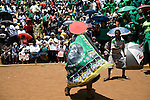 JOHANNESBURG, SOUTH AFRICA - NOVEMBER 2: Supporters of Jacob Zuma, the ANC president, welcomes him as he arrives on November 2, 2008 at Jabulani stadium in Soweto, South Africa. Mr. Zuma is expected to be elected as the 3rd democratic president in the country, during the up coming elections on April 22, 2009. Mr. Zuma is extremely popular among the black people in the country and despite his many problems with facing a corruption and fraud trial, his popularity only increases. (Photo by: Per-Anders Pettersson)..