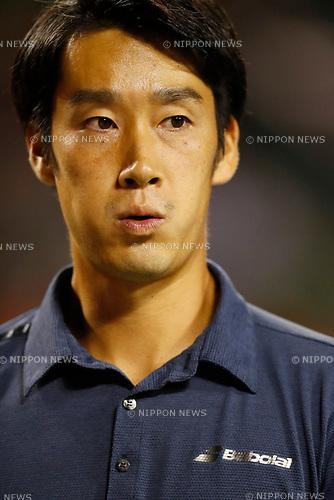 Yuichi Sugita (JPN), <br /> OCTOBER 5, 2017 - Tennis : <br /> Rakuten Japan Open Tennis Championships 2017 <br /> Singles 2nd round match <br /> at Ariake Coliseum, Tokyo, Japan. <br /> (Photo by Yohei Osada/AFLO)