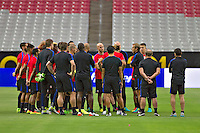 Glendale, AZ - Friday June 24, 2016: Jurgen Klinsmann of the United States during a training prior to the third place match of the Copa America Centenario at the University of Phoenix Stadium.<br /> Action photo during of the United States team training before the game against the selection of Colombia for third place in the America Cup Centenary 2016 at University of Phoenix Stadium<br /> <br /> Foto de accion durante el Entrenamiento de la Seleccion de Estados Unidos previo al partido contra la Seleccion de Colombia por el tercer lugar de la Copa America Centenario 2016, en el Estadio de la Universidad de Phoenix, en la foto: Jurgen Klinsmann DT de USA se dirige a  los Jugadores<br /> <br /> 24/06/2016/MEXSPORT/Victor Posadas.