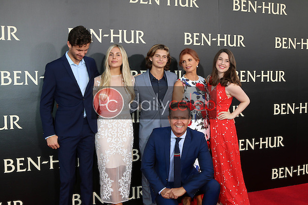 Guest, Cameron Burnett, James Burnett, Mark Burnett, Roma Downey, Reilly Marie Anspaugh<br /> at the &quot;Ben-Hur&quot; Premiere, TCL Chinese Theater IMAX. Hollywood, CA 08-16-16<br /> David Edwards/DailyCeleb.com 818-249-4998