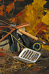 Fly fishing gear in the fall