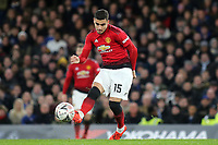 Andreas Pereira of Manchester United in action during Chelsea vs Manchester United, Emirates FA Cup Football at Stamford Bridge on 18th February 2019
