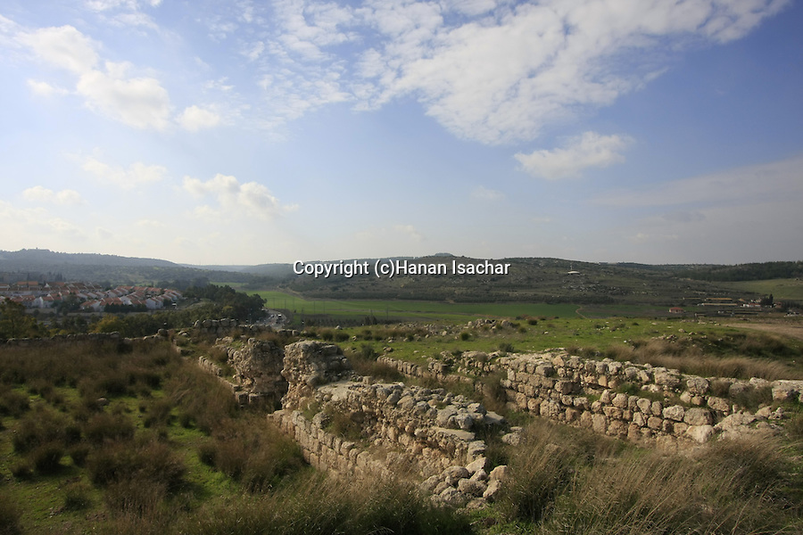 Israel, Shephelah. Archaeological remains at Tel Beth Shemesh