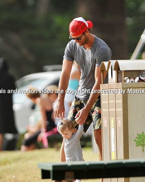 31st December, 2014 SYDNEY AUSTRALIA<br /> EXCLUSIVE <br /> Pictured,Tom Williams and wife, Rachel Gilbert with toddler holidaying  at Palm Beach, NSW. <br /> <br /> *No internet without clearance*.MUST CALL PRIOR TO USE +61 2 9211-1088. Matrix Media Group.Note: All editorial images subject to the following: For editorial use only. Additional clearance required for commercial, wireless, internet or promotional use.Images may not be altered or modified. Matrix Media Group makes no representations or warranties regarding names, trademarks or logos appearing in the images.